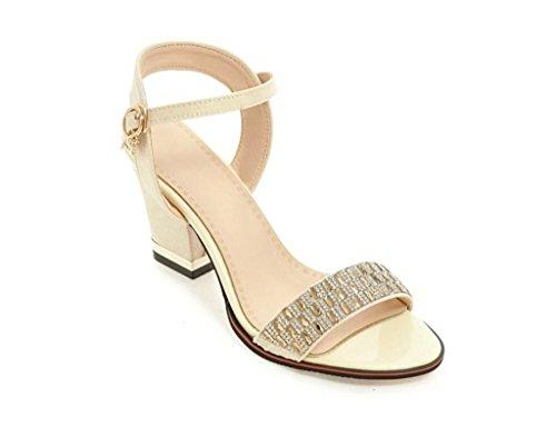 Élégant Beige xie Sandales Daily Violet 7cm Beige Strass 39 Glissement Noir Femme Shopping 41 32 Rouge qt4t1