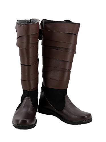 Star Wars: The Last Jedi Luke Skywalker Shoes Cosplay Costume Boots Brown