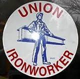 10 Union Ironworker Man & Beam Hardhat Stickers