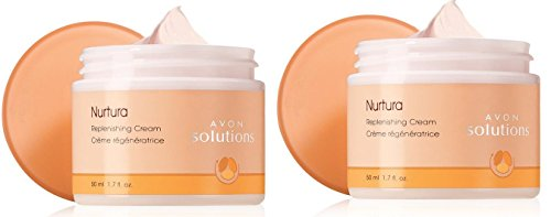 Avon Solutions Nurtura Replenishing Cream Lot of 2