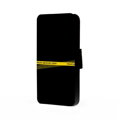 Police Line - Samsung Galaxy S4 Trifold Wallet Case (Samsung S4 Police Case)