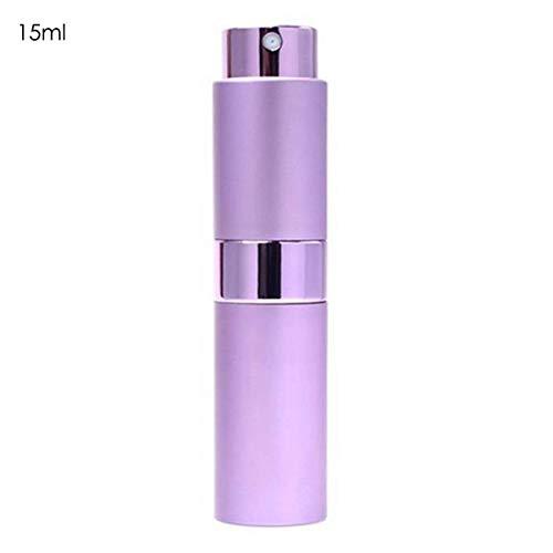 15ml Perfume Atomizer Bottle Travel Scent Pump Portable Refillable Spray Bottle (Color : Purple)