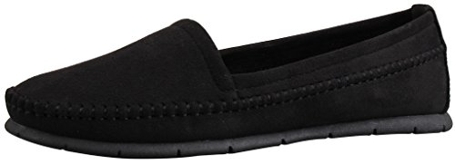 LIYZU Women's Suede Flats Comfort Slip On Casual Driving Loafers US Size 6.5 (Comfort Instep)