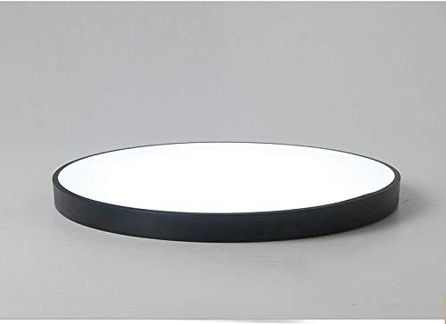 FidgetGear Ultrathin Modern Simple LED Kitchen Bathroom Restaurants Balcony Ceiling Light Black 23cm by FidgetGear (Image #2)