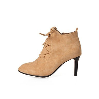 Slingback Heels Boots Fashion amp; Evening PU Fall Career Synthetic Wedding Women's DressStiletto Microfiber Gll amp;xuezi almond amp; Winter Party Casual Office EfwXxtInq