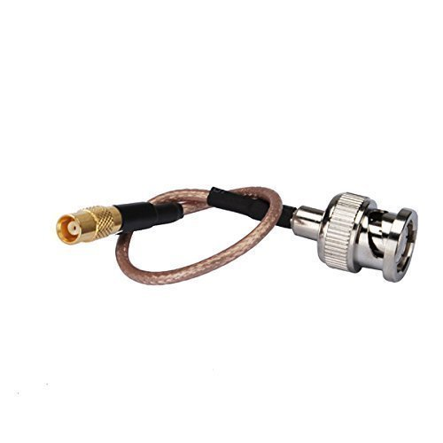 DHT Electronics RF coaxial coax cable assembly BNC male to MCX female 6''