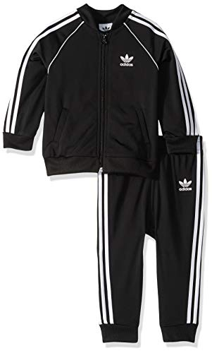 adidas Originals Baby Superstar Track Suit Set, Black/White, 6M