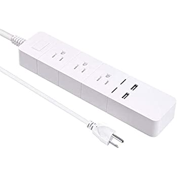 WiFi Smart Power Strip Socket DIWUER Smart Multi Outlets with 3 Plug and 2 USB Ports Compatible with Alexa Echo Surge Protector Timer Remote Control by iPhone and Android Phone