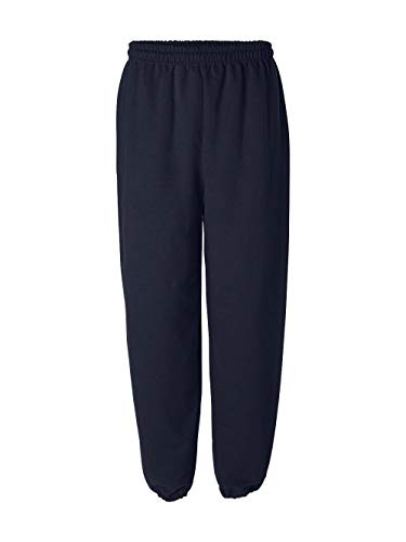 Sweatpants Blend Cotton (Gildan 18200 Heavy Blend Sweatpants, Navy, Medium)