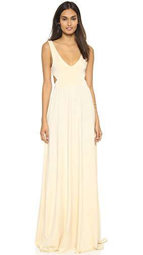 Rachel Pally Women's Long Cutout Dress, Cream, Medium