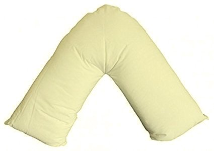 V-Shaped Pillow Orthopaedic Nursing Back Support Pregnancy Pillow with FREE Cream Pillowcase Duvets & Pillows Online