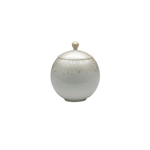 Denby Monsoon Home Lucille Gold 11-Ounce Covered Sugar (Denby Porcelain Sugar Bowl)