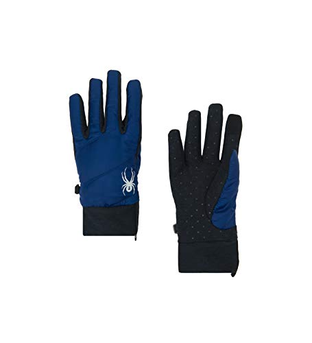 Spyder Women's Solitude Hybrid Glove, Blue Depths/Black/Black, Small