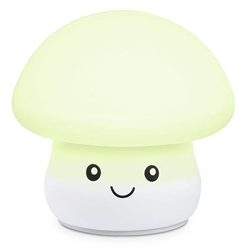 Night Light for Kids, Zanflare Cute Silicone Mushroom Night Light, Baby Bedside Lamp, 7 Colors Changing, USB Rechargeable, Sensitive Tap Control Mood Lamp, Perfect Christmas gift