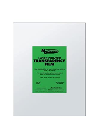 "MG Chemicals 416-T PET Transparency Film Sheet, 11"" Length x 8-1/2"" Width"