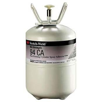 3M Scotch-Weld Hi-Strength Postforming 94 CA Cylinder Spray Adhesive Clear Low VOC, Large Cylinder (Net Wt. 26.2 lbs) by 3M