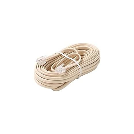 25' FT Telephone Line Cord Ivory Modular 6P4C Jack Plugs ... Phone Wiring Jack on wall phones, phone jack thermostat, microphone wiring, telephone jack installation, phone jack installation, phone jack diagram, phone wire, phone jack terminations, phone cord, wireless phone jack, home wiring, phone jack dimensions, phone line, install telephone wiring, phone jacks types, phone jack colors, phone jack lighting, telephone jacks, speaker jacks, dryer wiring, light switch wiring, phone jack outlet, car stereo wiring, phone jack voltage, phone problem, phone cable, phone repair, telephone wiring, phone connection, phone box, phone plug, phone jack for wall, outlet wiring, phone jack electrical,