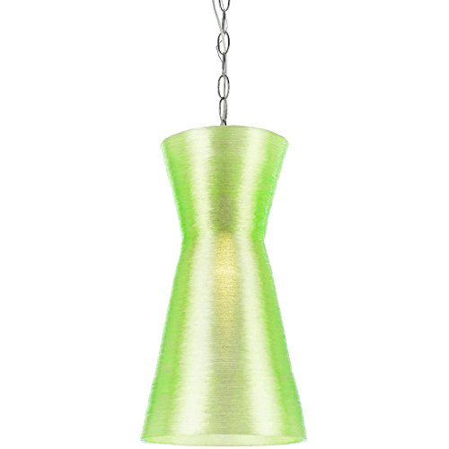 af-lighting-8579-1p-aimee-mini-recycled-woven-plastic-pendant-neon-green