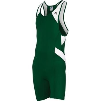 (Russell Athletic Men's Wrestling Sprinter Singlet Suit Small Dark Green and W.)