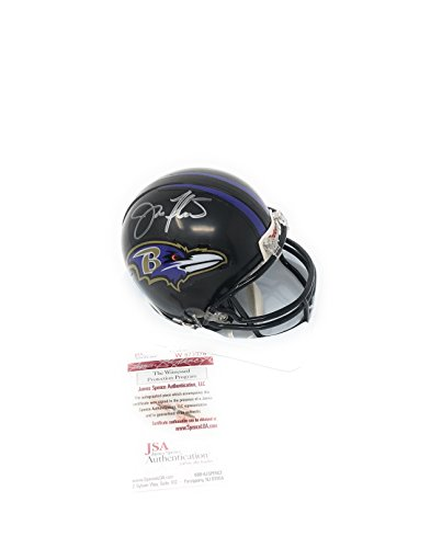 Joe Flacco Baltimore Ravens Signed Autograph Mini Helmet JSA Witnessed Certified