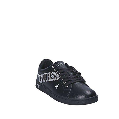 GUESS sneakers donna lacci scritta PELLE BLACk NERO FLSPR-3LEM12 inverno  2018  Amazon.co.uk  Shoes   Bags d1a64fe904e