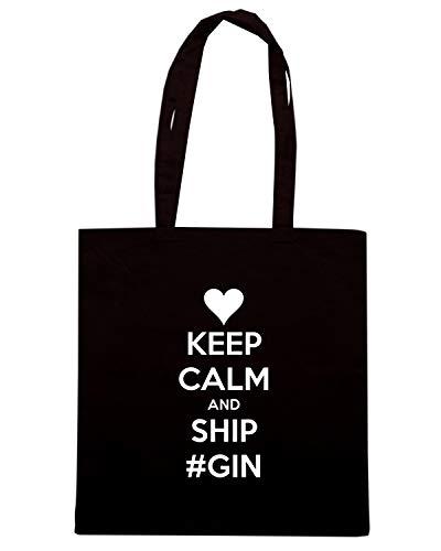 CALM GIN Shopper SHIP KEEP TKC0318 Shirt AND Nera Borsa Speed ZnBqPRR