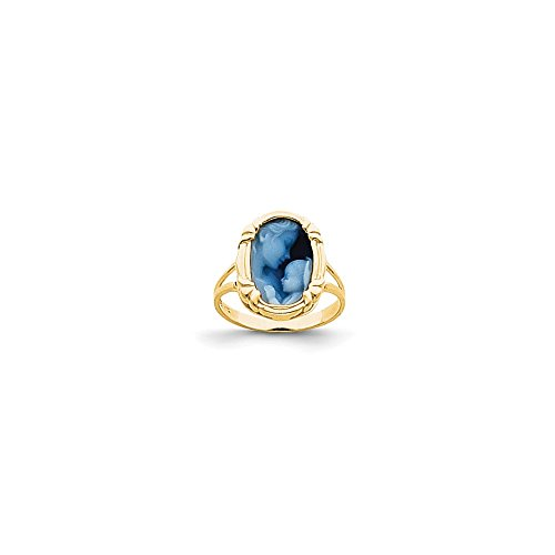 14k Heavens Gift Agate Cameo Ring (14k Agate Heavens Gift)