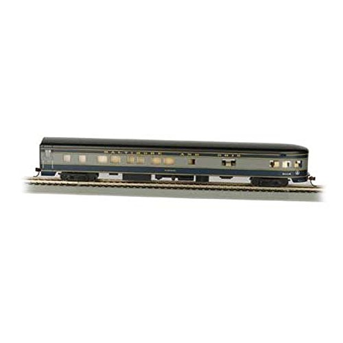 Bachmann Industries B&O Smooth-Side Observation Car with Lighted Interior (HO Scale), 85'