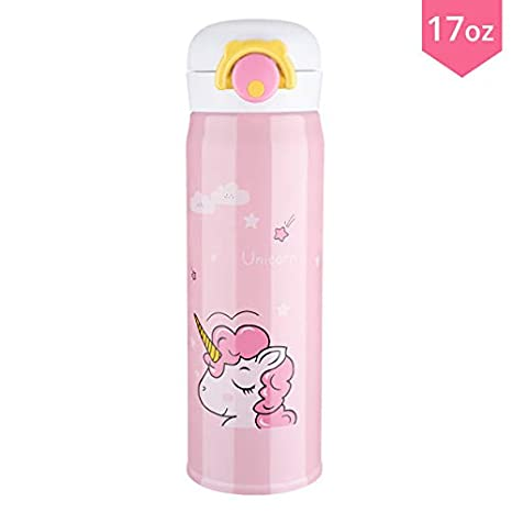 Amazon.com: Termo de botella de agua para niños, unicornio ...