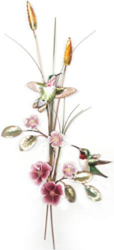 Bovano - Wall Sculpture - Hummingbird with Wild Roses