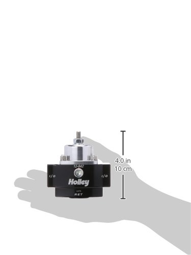 Holley 12-842 4.5-9 PSI Adjustable Bypass Billet Fuel Pressure Regulator with Idle Bleed and 3//8 NTP Ports