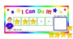 "Do It!"" Token Board. Colorful Magnetic Rewards Chart with Positive-Reinforcement Stars and Customizable Goal Box. Great for Ages 3-10. Measures 5-Inches by 9-Inches (Kids Work Charts)"
