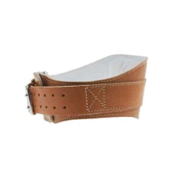 Power Contour Leather Lifting Belt 6in W x 40in-45in Waist X-Large