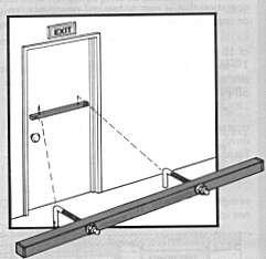 Door Hardware Outswing - Exit Security SB-010036 Single Outswing Door Bar