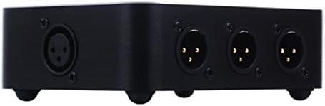 3-ways Audio Signal XLR Balanced Input Switcher Converter Splitter Preamp