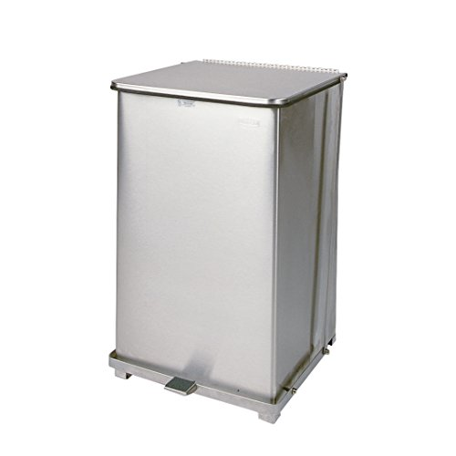 Rubbermaid Commercial Products FGST40SSPL Step-On Container (Square, 40-Gallon, Stainless Steel) ()