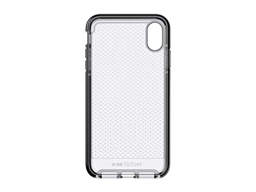 tech21 Protective Thin Evo Check Pattern Back Case Cover for Apple iPhone Xs Max, Smokey Black