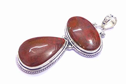 Sterling Silver Overlay Natural Mexican Fire Agate Handmade Designer Pendant Thanksgiving Sale Christmas Gift For Her Vintage Fashion