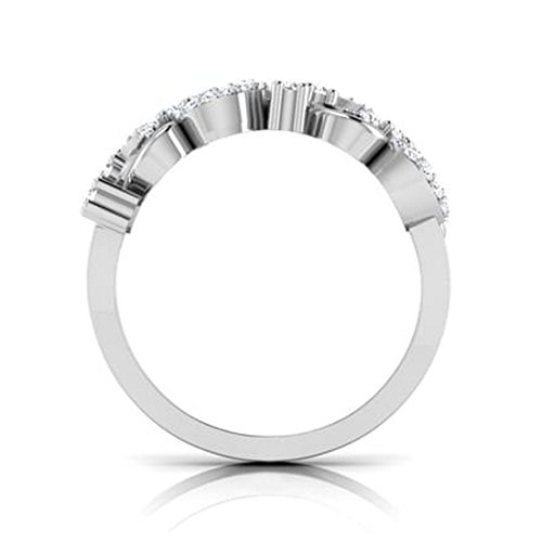 14K Or blanc, 0.25carat Diamant Taille ronde (IJ | SI) en diamant