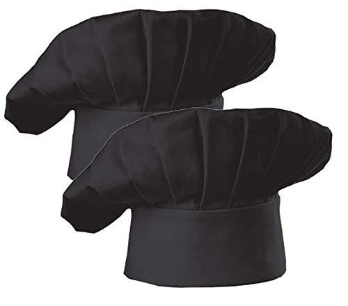 AFYHA Chef Hat Costume for Men Women, Adjustable Baker Hat,Kitchen Cooking Baking Hat,2 Pack -
