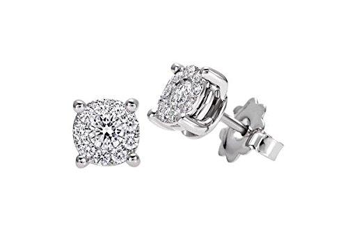 Boucles D'Oreilles-lumière Recarlo noeud D'amour avec diamants X989/020