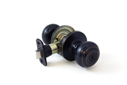 Lewis Hyman 1732605 Atlas Privacy Ball Door Knob, Oil Rubbed (Atlas Bronze Knobs)