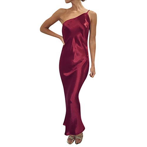 (Stoota Women's Solid Color Sleeveless Sexy Long Dress Party)