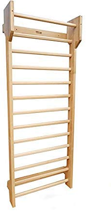 ARTIMEX Wooden Swedish Ladder (Stall Bars) Suspension Trainer - Physical Therapy & Gymnastics Tool - Ideal for Back Pain Scoliosis and Arthritis Exercises