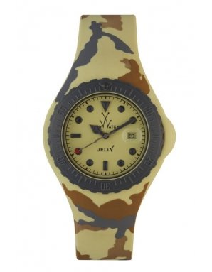 (Toy Watch Women's JYA03SY Jelly Army Yellow Camo Rubber Watch)