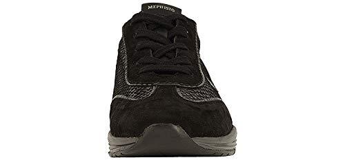 US Womens 11 Mephisto Womens Yael Sneakers Black Nubuck 41