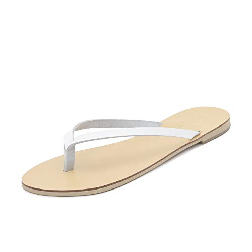 Cuoio Luca Schmick Mano Bassi Flops Flip Fatti Estive Natural Donna Gladiatore Bianco Eleganti Scarpe Sandali A Infradito qqwPzFEr
