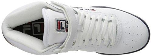 Fila Herren F-13v Lea / syn Fashion Sneakers Weiß / Fila Navy / Fila Rot