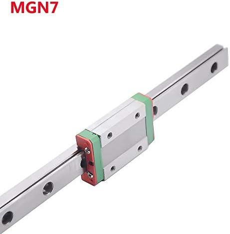 WNN-TOOL MGN7 Linearschienenführung Breite 7 mm Länge 100 200 300 400 500 600 700 mm mit 1 Linearblock MGN7H, MGN7H 300mm