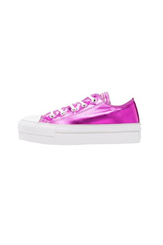 Scarpa Converse Chuck Taylor All Star low platform fucsia